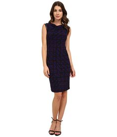 Anne Klein Anne Klein  Muir Jersey Draped Dress with Faux Leather Phoenix Combo Womens Dress for 84.99 at Im in! #sale #fashion #I'mIn