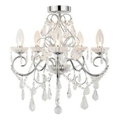 Vela 5 Light Chrome Chandelier