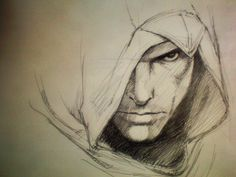 Everything Assassin& Creed! The Assassin, Assassins Creed Series, Assassins Creed Unity, Assassin's Creed I, Pencil Art Drawings, Drawing Sketches, Assassins Creed Dibujos, Graphic Novel, Pencil Drawings