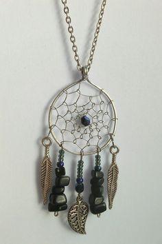 Dreamcatcher pendant black onyx