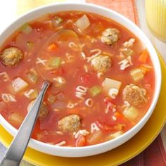 Meatball Alphabet Soup - Used a different soup recipe but meatballs were good.