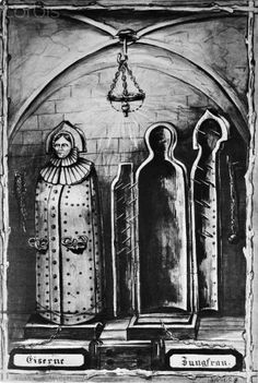 Original caption:The Iron Jungfrau. Torture instrument used by medieval court. Undated illustration.