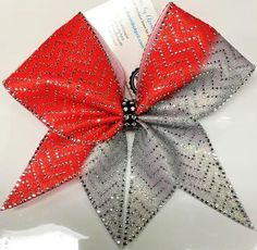 Bows by April - Single Chevron Full Bling Crystals Mystique or Glitter Ombre Cheer Bow, $25.00 (http://www.bowsbyapril.com/single-chevron-full-bling-crystals-mystique-or-glitter-ombre-cheer-bow/)