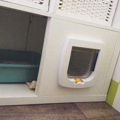 Fabriquer un meuble à litière avec un casier ikea et une chatière  :-)