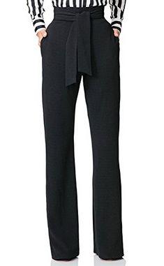 4f27ec148 VLUNT Womens Casual High Waist Straight Wide Leg Long Pants Trousers Belt