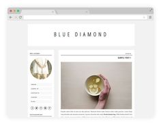 Premade Blogger Template  Blue Diamond by herpark on Etsy