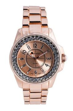 Rose Gold Boyfriend Watch ... Typically not into pink for watches. However, this pink is just soft enough.