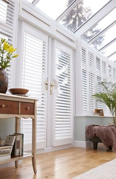 Transform your Conservatory with our Shutter collection, all handcrafted in the UK. Book your appointment today for made to measure Conservatory Shutters.