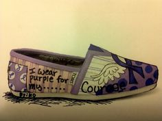 Price includes shoes Pancreatic Cancer by MyHeartToYourSole, $95.00