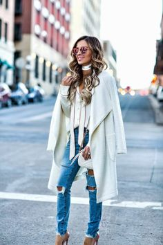 Casual Valentine's Day Picks - Revolve Top // Lovers + Friends x Revolve Jeans // Similar Ivory Cardigan // Christian Louboutin 'So Kate' Heels // Gucci Marmont Bag // Quay Sunglasses February 6th, 2017 by maria