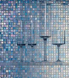 Glass mosaic tile - THE WATER GLASS COLLECTION - SICIS | via mozaiek utrecht verkrijgbaar