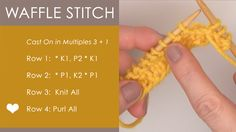 How to Knit the Waffle Stitch with Free Knitting Pattern + Video Tutorial by Studio Knit
