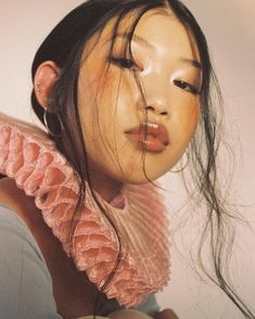 Sweetness & Light wearing collar styled by photographed makeup hair so lucky to work with this talented team 🍑 Chill Hip Hop, Umibe No Onnanoko, People Photography, Portrait Photography, Pretty People, Beautiful People, 3 4 Face, Aesthetic People, Foto Art