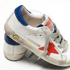 Golden Goose Super Star Sneakers In Leather With Leather Star Kids - Golden Goose / GGDB