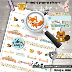 Spring Stickers, Printable Planner Stickers, Flowers Stickers, Erin Condren, Kawaii Stickers, Floral Stickers, Planner Accessories, Stamps