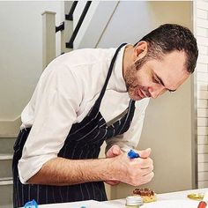 Chef @dominiqueansel hard at work on his latest pastry creation  Yummery - best recipes. Follow Us! #kitchentools #kitchen