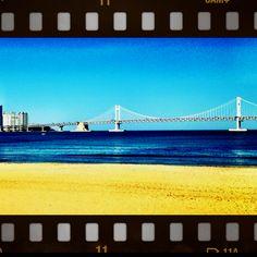 Gangwalli bridge Busan S Korea