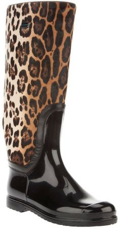 Nadire Atas on Wild Animal Prints LEOPARD BOOT . Black leather boot from Dolce and Gabbana featuring a round toe, leopard print design on the leg of the boot, with a ridged sole, and a silver metallic plate featuring the design logo. Women's Shoes, Cute Shoes, Me Too Shoes, Shoes Style, Leopard Fashion, Animal Print Fashion, Animal Prints, Leopard Print Boots, Cheetah Print