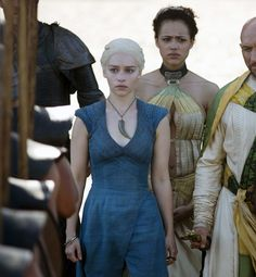 daenerys targaryen; astapor; blue dress & cloak | Game of ...  daenerys targar...