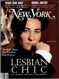 """New York"": k.d. lang."