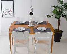 Mesa Extensível Pina - Castanho #oppadesign #saladeestar