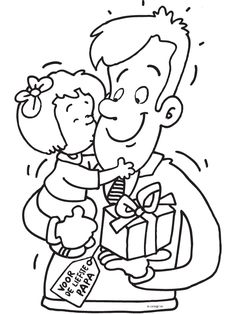 Coloring Pages For Kids, Coloring Sheets, Fathers Day Coloring Page, I Love My Dad, Sensory Activities, Mother And Father, Drawing For Kids, Happy Fathers Day, Crafts For Kids