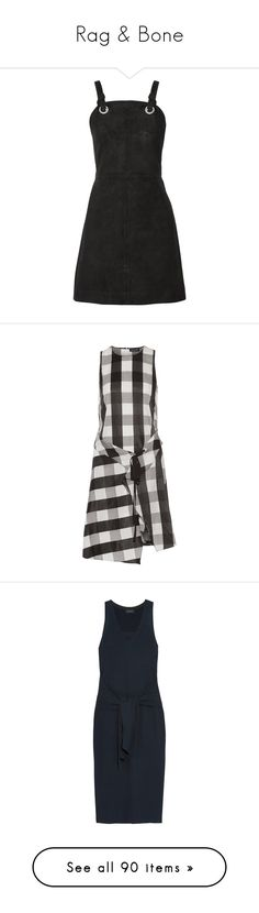 """""""Rag & Bone"""" by shoppings9 ❤ liked on Polyvore featuring dresses, vestidos, embellished dress, pinafore dress, eyelet mini dress, embellished mini dress, zipper dress, rag & bone, black and pattern dress"""