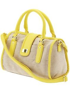 nice! love the lemon yellow and canvas mix. perfect summer bag.