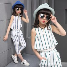 Girls clothing sets 2019 summer fashion striped vest T-shirt pants two pieces kids tracksuit children clothing set kids clothes. Fashion Kids, Girl Fashion, Fashion Outfits, Cheap Fashion, Kids Fashion Summer, Suit Fashion, 90s Fashion, Dresses Kids Girl, Kids Outfits