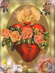 #InmaculadoCorazónDeMaría #Novena  Corazón Inmaculado de María,desbordante de…