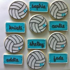 Volleyball Cookies: making these at the end if the season