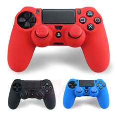 Soft Silicone Flexible Gel Rubber Skin Case Cover For Sony PS4 Controller Grip Cover + 2pcs Thumbstick JoyStick Silicone Caps     Tag a friend who would love this!     FREE Shipping Worldwide     Get it here ---> https://hightechboytoys.com/soft-silicone-flexible-gel-rubber-skin-case-cover-for-sony-ps4-controller-grip-cover-2pcs-thumbstick-joystick-silicone-caps/
