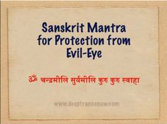 Sanskrit mantra for protection from evil eye