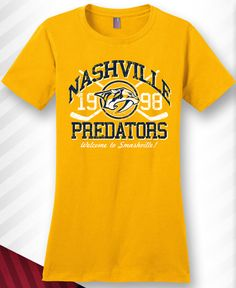 Nashville Predators Ladies Vintage Tee. Welcome to Smashville!  Preds   hockey  tshirt 6821f6e03