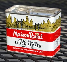 maison royal black pepper tin