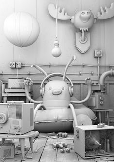 robots and friends on Behance