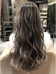 - All For Hair Color Trending Hair Dye Colors, Ombre Hair Color, Hair Streaks, Hair Highlights, Permed Hairstyles, Pretty Hairstyles, Medium Hair Styles, Curly Hair Styles, Korean Hair Color