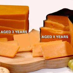 Aged Cheddar Cheese Two Distinct Styles 1.5 lb. Blocks