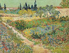 Van Gogh, Enclos au jardin, 1853-1890, peintre et dessinateur néerlandais, inspirée de l'impressionnisme et néo-impressionnisme, annonce le fauvisme et l'expressionnisme, son style a constamment évolué