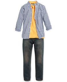 Tommy Hilfiger Boys' Gingham Shirt, Polo & Jeans