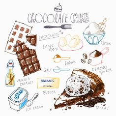 A piece of #chocolate cake ?  _  구름위로  슝슝  _
