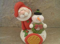 Santa and Snowman Holiday Cheer