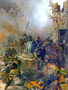 """Tancred leads the final assault on Jerusalem's walls"", Igor Dzis"
