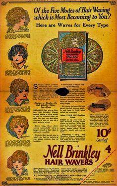 rare Nell Brinkley Hair Wavers 1920s hair clips curlers pins. vintage. artist…