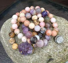 Amethyst & Opal Druzy bracelets.          Please visit my shop ✨ .    Etsy.com/shop/KarmicSparkle