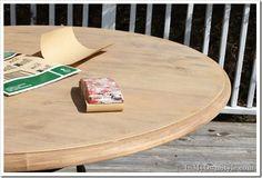 How to strip furniture (strip the dark stain off)  - Restoration-Hardware-Wood-Finish Salvaged Pine
