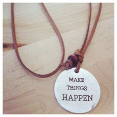 Things Suede Necklace by nunKi #colares #necklace #quotes #makethingshappen