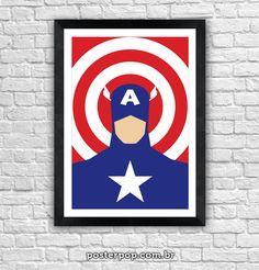 Poster Capitão América Minimalista 2