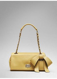 Fashion Activities Chain Bowknot Adornment Single Shoulder Bag