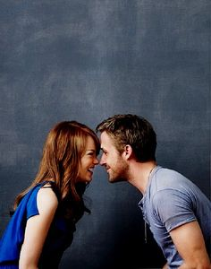 """Show me someone that wouldn't give it all up for Emma Stone, and I'll show you a liar."" -Ryan Gosling - SO CUTE"